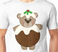 Cute Teddy Bear Dressed as a Christmas Pudding Unisex T-Shirt