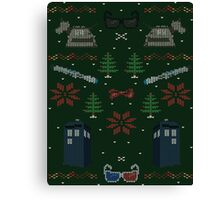 Ugly Doctor Christmas Sweater Canvas Print