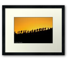 Rathdrum Mountain Framed Print