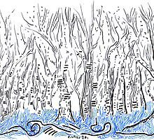The forest for the Trees, an ACEO by Regina Valluzzi