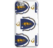 Smartphone Case - State Flag of Massachusetts - Vertical II iPhone Case/Skin