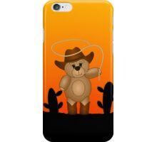 Cute Cartoon Teddy Bear Cowboy iPhone Case/Skin