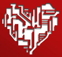 Circuit Board Heart by J-Squared