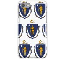 Smartphone Case - State Flag of Massachusetts - Horizontal II iPhone Case/Skin