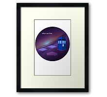 who is on first. Framed Print