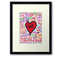 Love graffiti Framed Print
