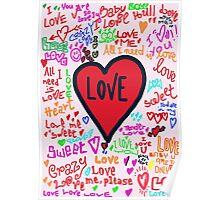 Love graffiti Poster