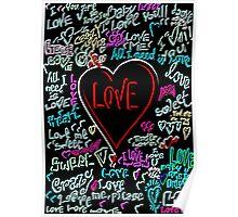 love neon graffiti Poster