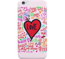 love graffiti iPhone Case/Skin
