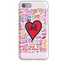 love graffiti iPhone Case/Skin