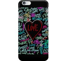 love neon iPhone Case/Skin
