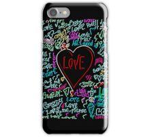 love neon iPhone Case/Skin