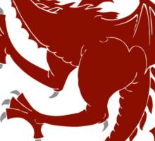 Targaryen Fire and Blood Red Dragon Sticker