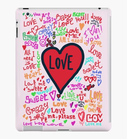 love graffiti iPad Case/Skin