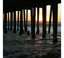 Sunset Under The Pier Photographic Print