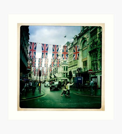 London Flags Art Print