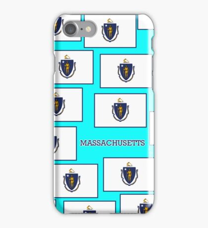 Smartphone Case - State Flag of Massachusetts - Horizontal V iPhone Case/Skin