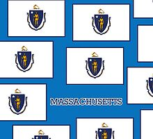 Smartphone Case - State Flag of Massachusetts - Horizontal VI by Mark Podger