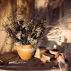 Evening still Life c with wildflowers by Sviatlana Kandybovich