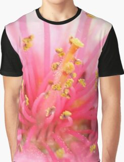 Pink Peach Pollen Macro Abstract Graphic T-Shirt