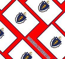 Smartphone Case - State Flag of Massachusetts - Diagonal  by Mark Podger