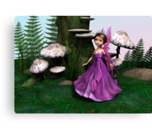 Fairy in Woodland Canvas Print