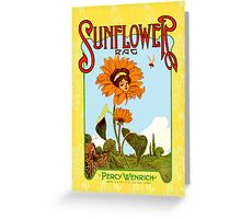 Sunflower Vintage Music Sheet Cover Greeting Card
