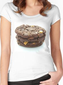 Chocolate Chip Cookies x4 Women's Fitted Scoop T-Shirt