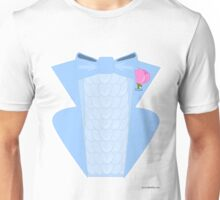 Powder Blue Disco Tuxedo Shirt Unisex T-Shirt