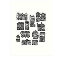 Little Edinburgh (TILED PATTERN) Art Print