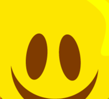 Groovy 70's Smiley Sticker