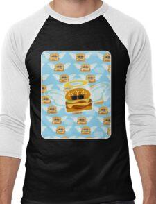 Heavenly Flying Cheeseburger Men's Baseball ¾ T-Shirt