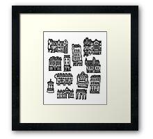 Little Edinburgh (CENTRE PATTERN) Framed Print