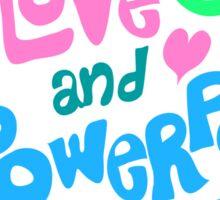 Peace Love and Powerpop Sticker