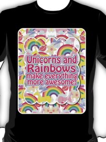 Rainbows and Unicorns Slogan T-Shirt