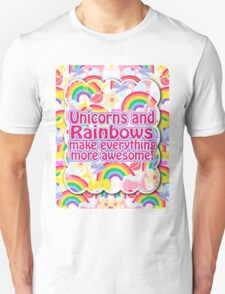 Rainbows and Unicorns Slogan Unisex T-Shirt