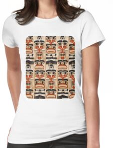 Epic Totem Pole Design  Womens Fitted T-Shirt