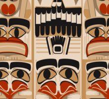 Epic Totem Pole Design  Sticker