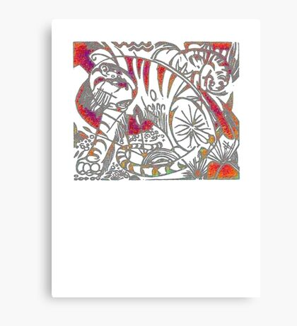 Tiger in Red After Franz Marc Canvas Print