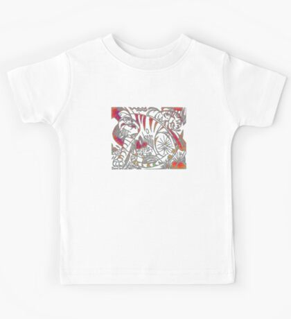 Tiger in Red After Franz Marc Kids Tee