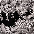 'Morphic Resonator'- pencil collaborative work by Matthew Sergison-Main