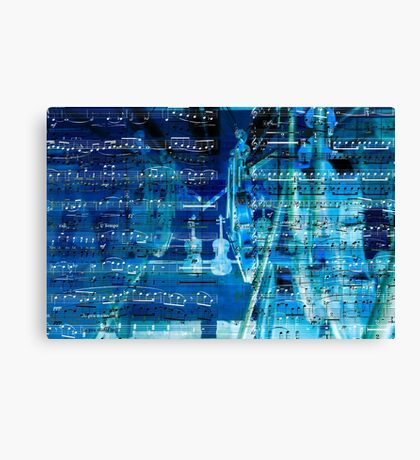 Violins and music notes Canvas Print