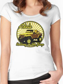 Adele - Rolling In The Jeep Women's Fitted Scoop T-Shirt