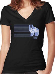 Sonic Moonwalker Women's Fitted V-Neck T-Shirt