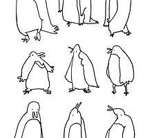 Penguins are silly. by Peony Gent