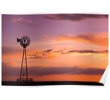 Windmill on the Plains Poster
