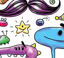 Monster Mash Moustache Sticker