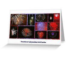 Fireworks over Lake Junaluska, North Carolina Greeting Card