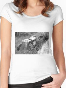 Out to pasture (sketch) Women's Fitted Scoop T-Shirt
