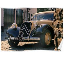 An old Citroen Traction Avant Poster